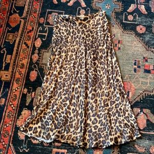 H&M satin midi skirt